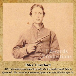 Missouri, guerrilla, Bushwhacker, border war, kansas, history, Riley Crawford