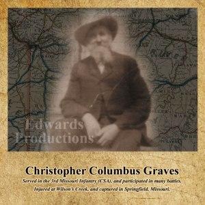 Missouri, Confederate, veteran, civil war, platte county, Christopher Graves