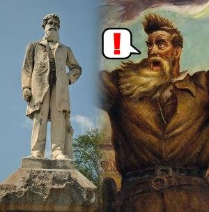 John Brown, John Brown monument, Tragic Prelude, Bleeding Kansas