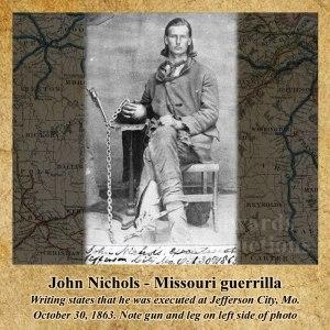 John Nichols, Missouri, guerrilla, Bushwhacker, border war, kansas, history