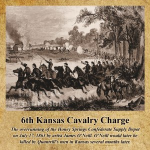 James O'Neill, artist, civil war, Quantrill, 6th Kansas Cavalry