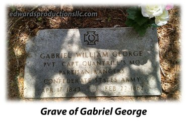 Quantrill, George Cemetery, Border War, Missouri, Gabriel George, Partisan Rangers