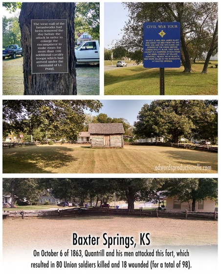 baxter springs, kansas, William Quantrill, October 6, 1863, Missouri, Kansas History, Civil War